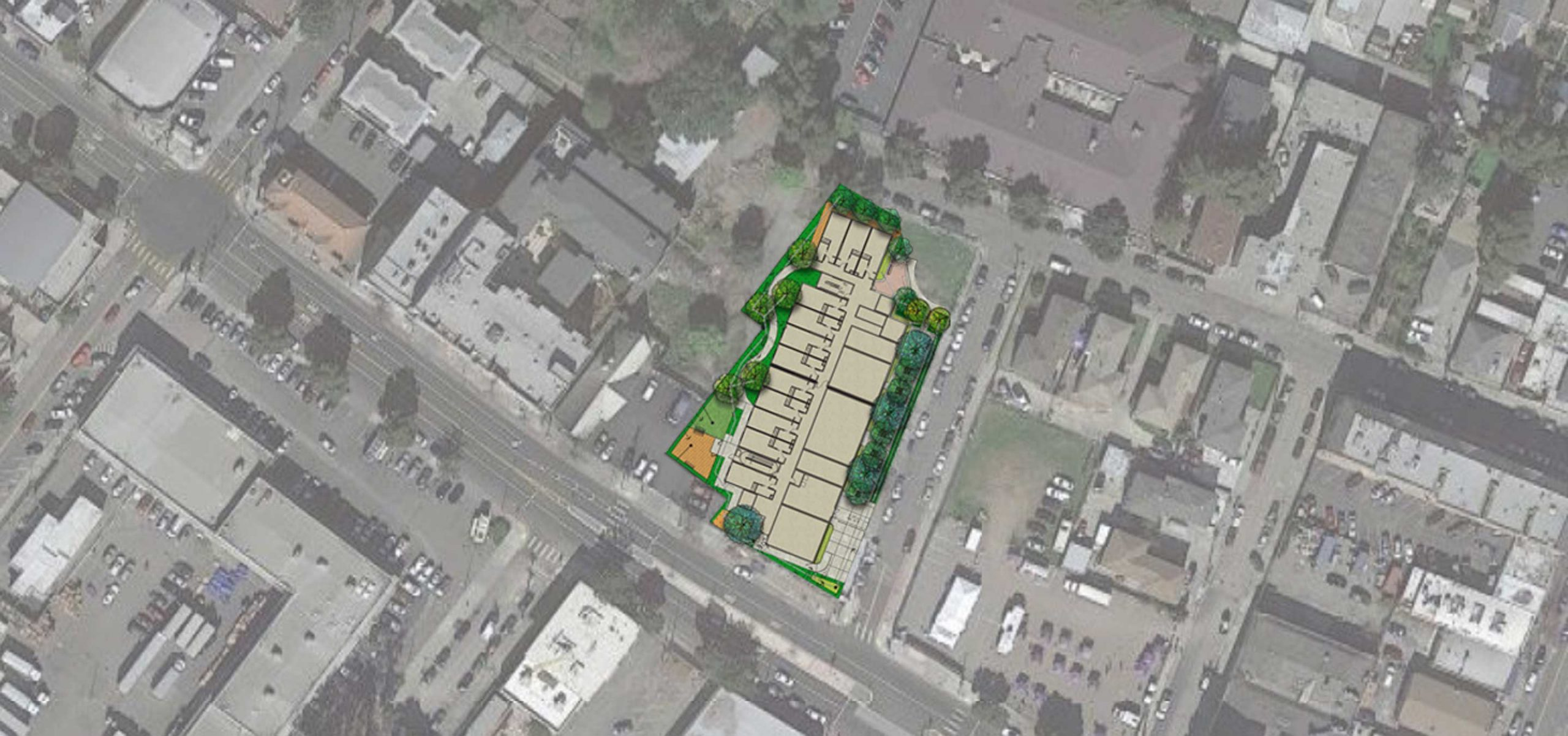 colored site plan on google maps