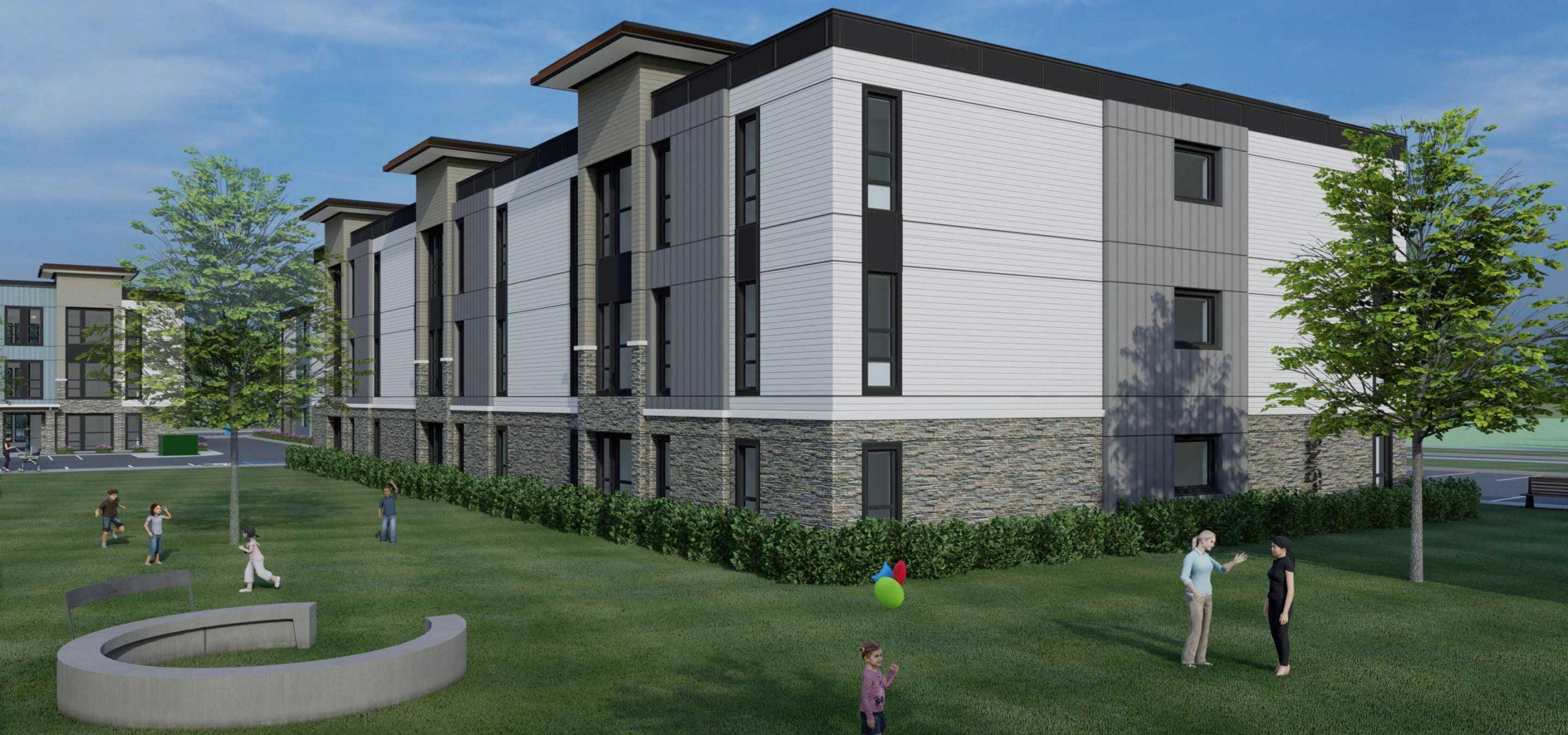 Rendering of Lemos Pointe apartment building C